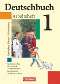 Deutschbuch 1. Arbeitsheft mit Lösungen. Realschule. 5. Schuljahr. Baden-Württemberg