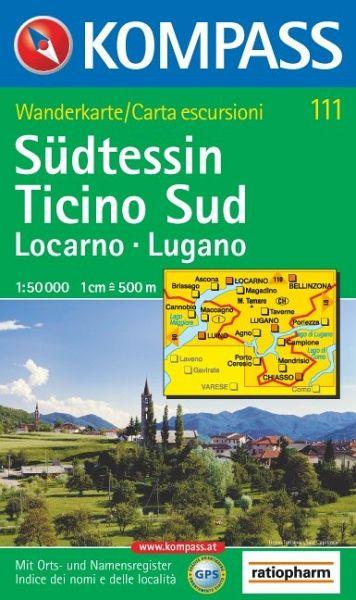 Südtessin. Locarno. Lugano. 1 : 50 000: Wanderkarte