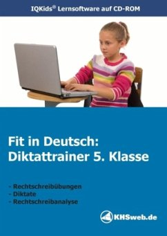 Fit in Deutsch: Diktattrainer. 5. Klasse. CD-RO...