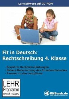 Fit in Deutsch, Rechtschreibung Klasse 4, 1 CD-ROM