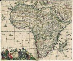 Historische Landkarte: Afrika 1698 (Plano)