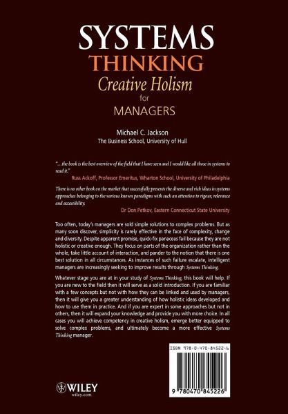 holistic thinking in management Abstract: holistic management (hm) is a grazing practice that typically  how  they teach such systems thinking, and how they reflect upon their.