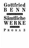 Sämtliche Werke - Stuttgarter Ausgabe. Bd. 5 - Prosa 3 (Sämtliche Werke - Stuttgarter Ausgabe, Bd. ?) / Sämtliche Werke, Stuttgarter Ausg. Bd.5, Tl.3