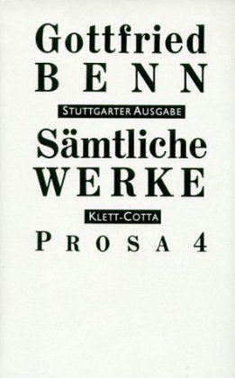 Prosa Sämtliche Werke Stuttgarter Ausg Bd6 Tl4