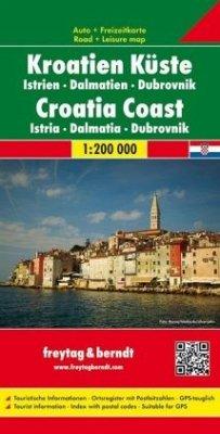 Freytag & Berndt Autokarte Kroatien, Küste. Hrvatska obala; Kroatie kust. Croatia Coast; Croatie Cote. Croazia Costa