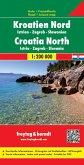 Freytag & Berndt Autokarte Kroatien Nord; Hrvatska sjever; Kroatie Noord