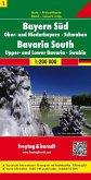 Freytag & Berndt Auto + Freizeitkarte Bayern Süd - Ober- und Niederbayern - Schwaben; Baviera Sur, Centro. Beieren Zuide