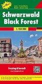 Freytag & Berndt Autokarte Schwarzwald, Top 10 Tips 1:150.000; Selva Negra; Zwarte Woud; Black Forest; Foret Noire; Fore