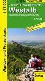 GeoMap Karte Geopark Schwäbische Alb, Westalb