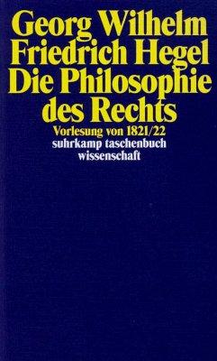 Georg Wilhelm Friedrich Hegel - Philosophie des Rechts - Hegel, Georg Wilhelm Friedrich