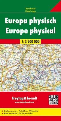 Freytag-Berndt U. Artaria Freytag & Berndt Autokarte Europa, physisch; Europa, fisico; Europe fysiek