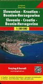 Freytag & Berndt Autokarte Slowenien, Kroatien, Bosnien-Herzegowina; Eslovenia, Croacia, Bosnia-Erzegovina; Slovenie, Cr