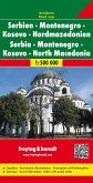 Freytag & Berndt Autokarte Serbien - Montenegro - Kosovo - Nordmazedonien