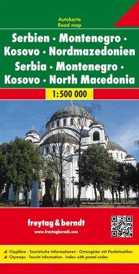 Freytag & Berndt Autokarte Serbien - Montenegro...