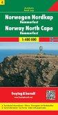 Freytag & Berndt Autokarte Norwegen, NordkapNordkap - Hammerfest, 1:400.000; Norge, Nordkapp; Noorwegen, Nordkapp