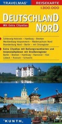 KUNTH Reisekarte Deutschland Nord 1 : 300 000
