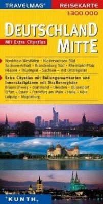 Travelmag Reisekarte Deutschland Mitte / Travel...