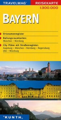 Travelmag Reisekarte Bayern
