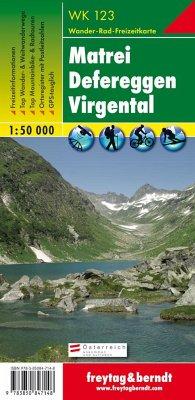 Freytag & Berndt Wander-, Rad- und Freizeitkarte Matrei, Defereggen, Virgental