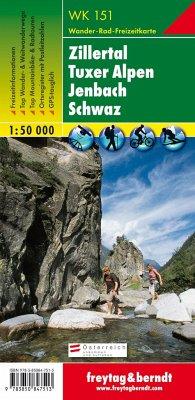 Freytag & Berndt Wander-, Rad- und Freizeitkarte Zillertal, Tuxer Alpen, Jenbach, Schwaz