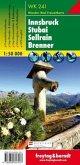 Freytag & Berndt Wander-, Rad- und Freizeitkarte Innsbruck, Stubai, Sellrain, Brenner