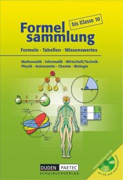 Formelsammlung bis Klasse 10 mit CD-ROM - Bahro, Uwe; Becker, Frank-Michael; Engelmann, Lutz; Ernst, Christine; Huster, Sonja; Kalenberg, Astrid; Langenhan, Rolf