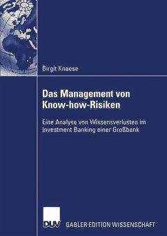 Das Management von Know-how-Risiken - Knaese, Birgit
