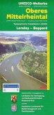 Topographische Freizeitkarte Rheinland-Pfalz Oberes Mittelrheintal, Loreley - Boppard; Upper Middle Rhine Valley, Lorele