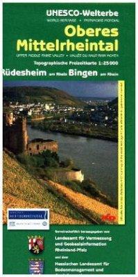 Topographische Freizeitkarte Rheinland-Pfalz Ob...
