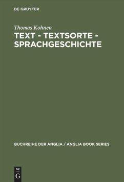 Text - Textsorte - Sprachgeschichte