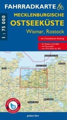 Fahrradkarte Mecklenburgische Ostseeküste Wisma...