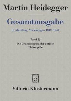 Gesamtausgabe Abt. 2 Vorlesungen Bd. 22. Grundb...