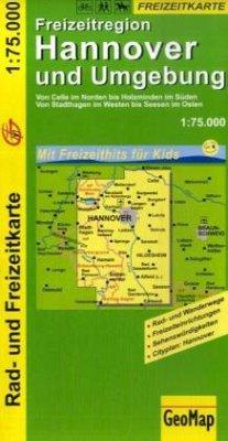 GeoMap Karte Freizeitregion Hannover und Umgebung