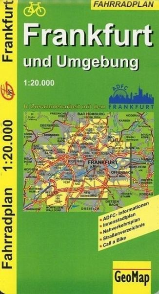 GeoMap Fahrradplan Frankfurt und Umgebung