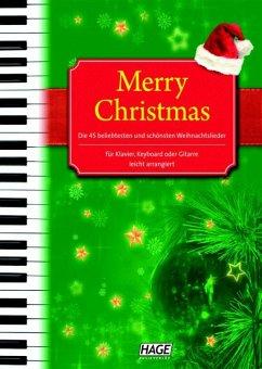 Merry Christmas, für Klavier, Keyboard oder Gitarre