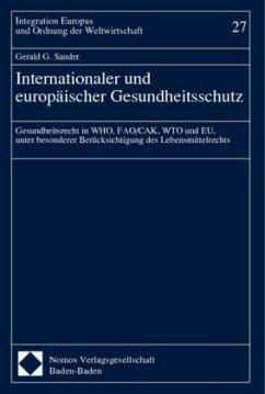 Internationaler und europäischer Gesundheitsschutz - Sander, Gerald G.