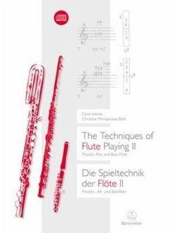 Die Spieltechnik der Flöte, m. Audio-CDThe Techniques of Flute Playing, w. Audio-CD