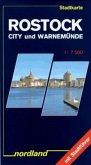 Rostock City und Warnemünde. Stadtkarte