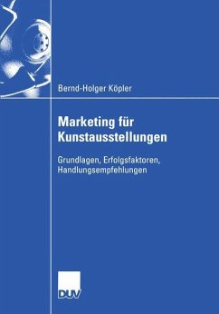 Marketing für Kunstausstellungen - Köpler, Bernd-Holger