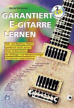 Garantiert E-Gitarre lernen, m. 2 Audio-CDs - Brümmer, Bernd