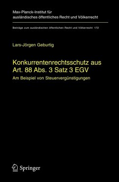 Konkurrentenrechtsschutz aus Art. 88 Abs. 3 Satz 3 EGV - Geburtig, L.-J.