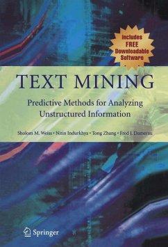 Text Mining - Weiss, Sholom M.;Indurkhya, Nitin;Zhang, Tong