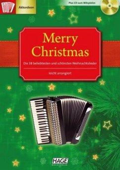 Merry Christmas für Akkordeon, m. Audio-CD