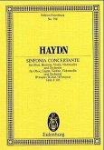 Symphonie concertante B-Dur Hob. I:105 für Oboe, Fagott, Violine, Violoncello und Orchester, Partitur