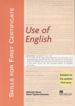 Skills For First Certificate Use of English. Student's Book - Mann, Malcolm; Taylore-Knowles, Steve