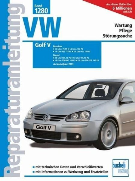 reparaturanleitung vw golf v benziner buch. Black Bedroom Furniture Sets. Home Design Ideas