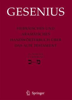 Hebräisches und aramäisches Handwörterbuch (18. A.) über das Alte Testament - Gesenius, Wilhelm