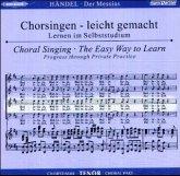 Der Messias HWV 56, Chorstimme Tenor, 2 Audio-CDs