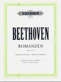 Romanzen für Violine und Orchester G-Dur op.40 und F-Dur op.50, Klavierauszüge