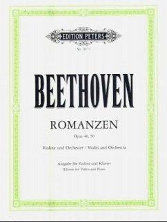 Romanzen für Violine und Orchester G-Dur op.40 und F-Dur op.50, Klavierauszüge - Beethoven, Ludwig van